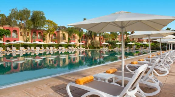 The Iberostar Club Palmeraie Marrakech's impressive outdoor pool situated in astounding Morocco.