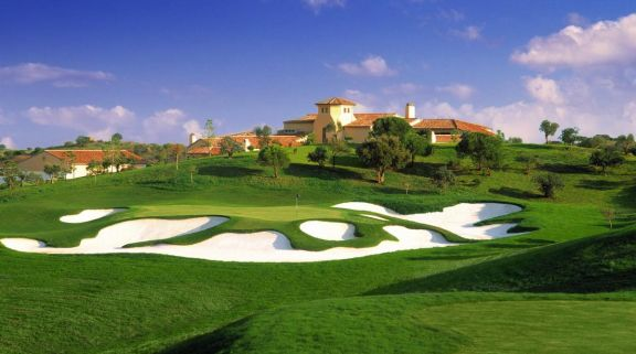 The Monte Rei Golf  Country Club's beautiful golf course situated in spectacular Algarve.