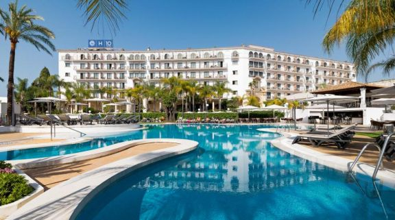 The H10 Andalucia Plaza Hotel's lovely main pool situated in vibrant Costa Del Sol.