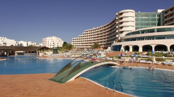 View Paraiso Albufeira Hotel's lovely main pool in astounding Algarve.