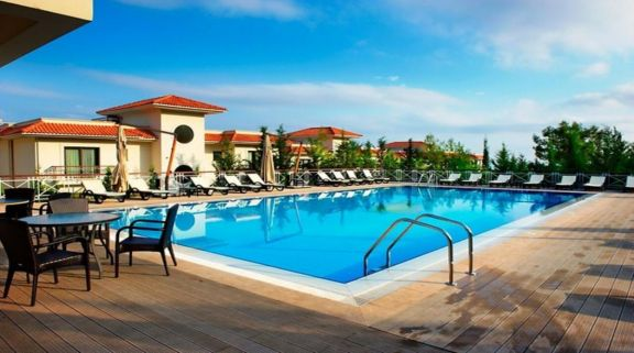 The Korineum Golf  Beach Resort's beautiful outdoor pool within marvelous Northern Cyprus.
