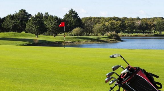 The Golf International Barriere La Baule's scenic green within breathtaking South of France.