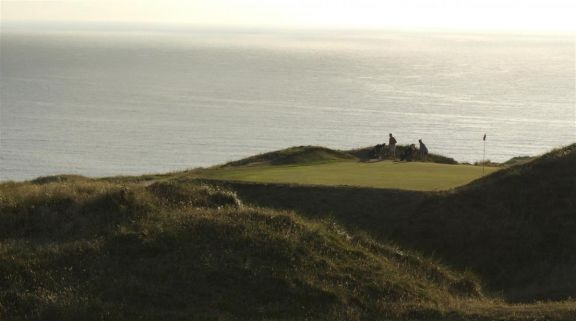 Perranporth links golf course in North Cornwall