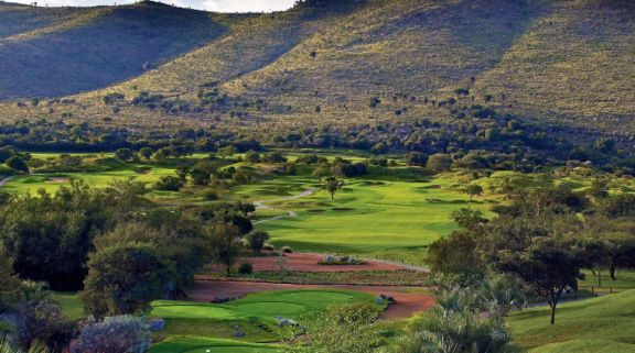 The Lost City Golf Course's beautiful golf course in magnificent South Africa.