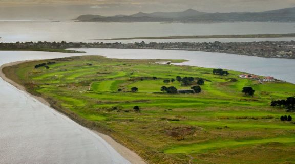 View Portmarnock Links's lovely golf course in marvelous Southern Ireland.