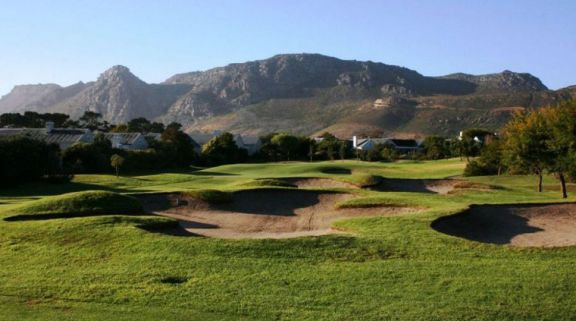 The Steenberg Golf Club's lovely golf course in staggering South Africa.