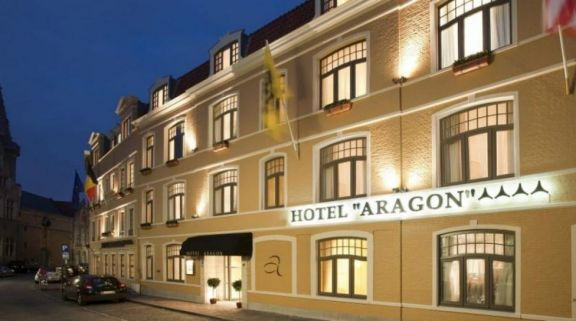View Hotel Aragon's beautiful hotel in dramatic Bruges  Ypres.