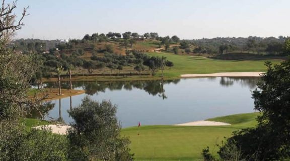 a lake behind the 5th green at silves
