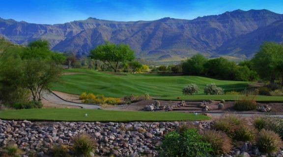 The Gold Canyon Golf's lovely golf course situated in brilliant Arizona.