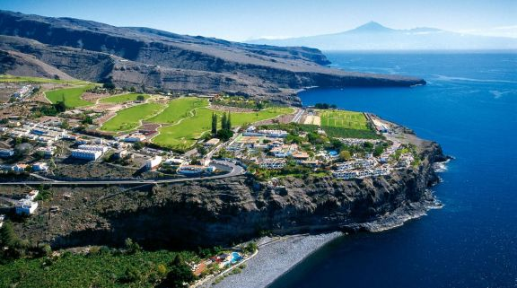 The Tecina Golf Club's scenic golf course situated in dramatic La Gomera.
